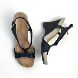 Hush Puppies T Strap Wedge Sandals
